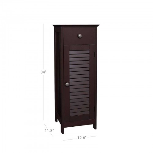 Brown Shutter Door Cabinet