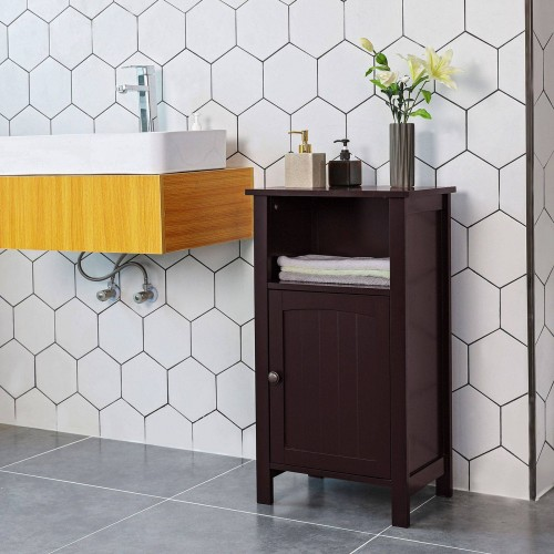 Fabulous Brown Bathroom Storage Cabinet Interior Design Ideas Skatsoteloinfo