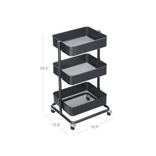 Adjustable Shelves Rolling Cart