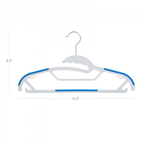 Chrome Swivel Plastic Hanger
