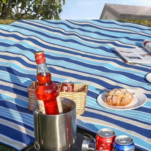 Strip Pattern Picnic Blanket