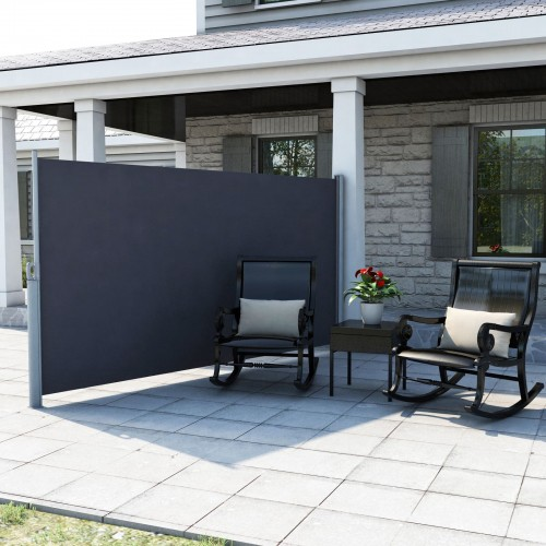 Gray Patio Side Awning