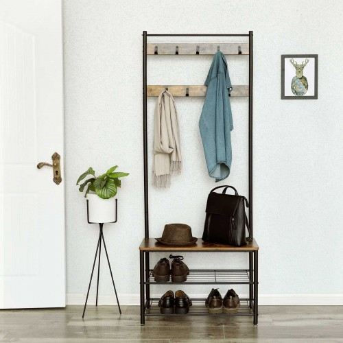 Vintage Entryway Coat Rack