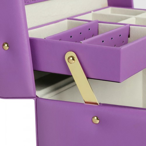 Purple Mirrored Jewelry Box