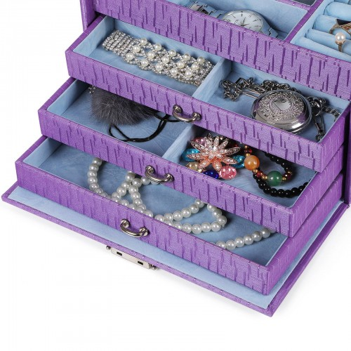 Purple Textured Jewelry Box