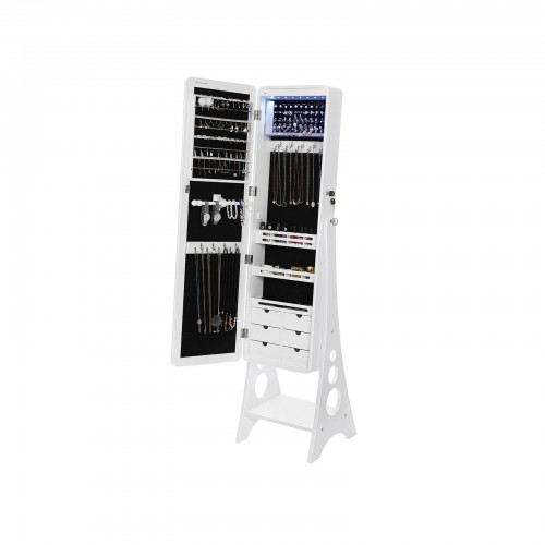 Mirrored Standing Jewelry Armoire