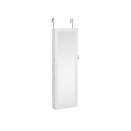 White Hanging Jewelry Armoire
