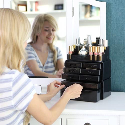 Black Makeup Organizer , Makeup Organizer