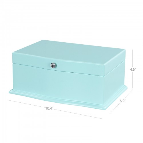 Blue Music Jewelry Box