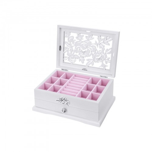 Flower Carving Jewelry Organizer
