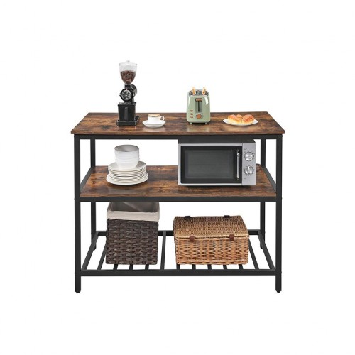 3 Shelves Kitchen Island