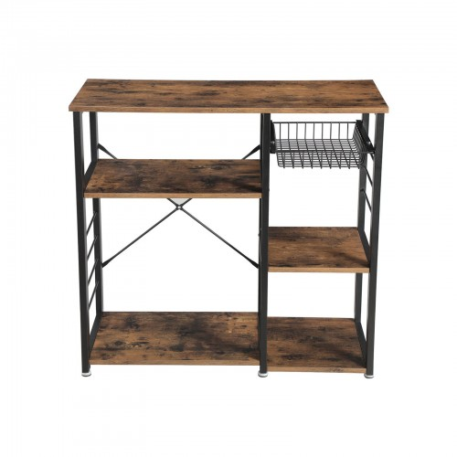 Metal Frame Kitchen Shelf