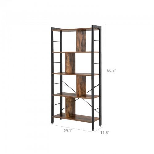 4 Tier Industrial Bookshelf