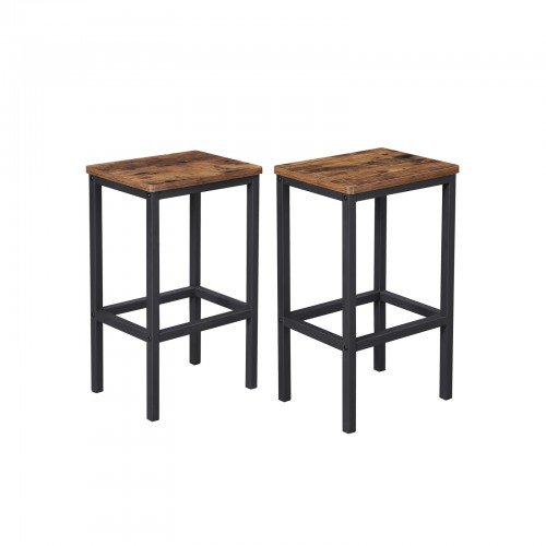 Set of 2 Industrial Bar Stools