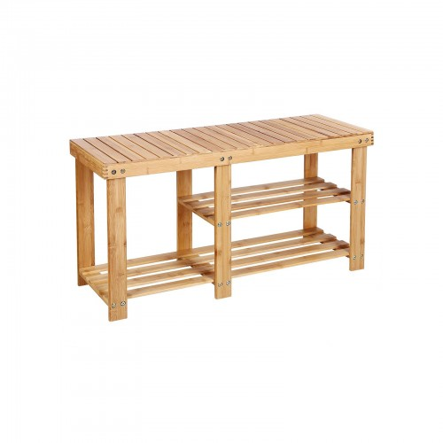 Bamboo Shoe Rack Bench