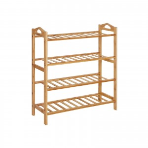 Bamboo Shoe Shelf