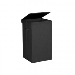 Black Fabric Laundry Hamper