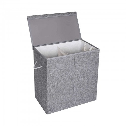 Fabric Double Laundry Hamper