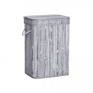 Bamboo Grey Laundry Hamper
