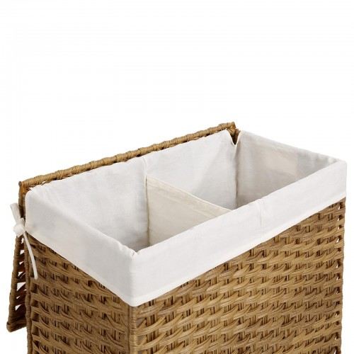 Natural Handwoven  Double Laundry Hamper