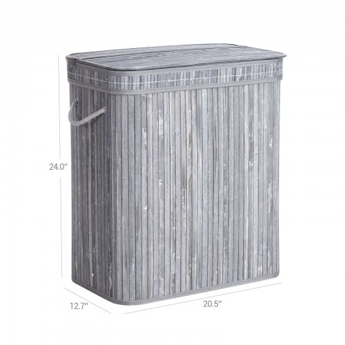 Bamboo Grey Laundry Basket