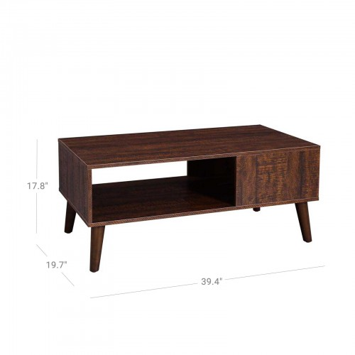 Storage Shelf Coffee Table
