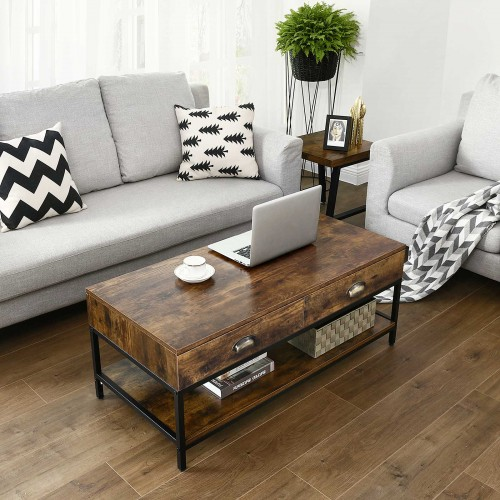 Vasagle Industrial Coffee Table Accent Cocktail Table