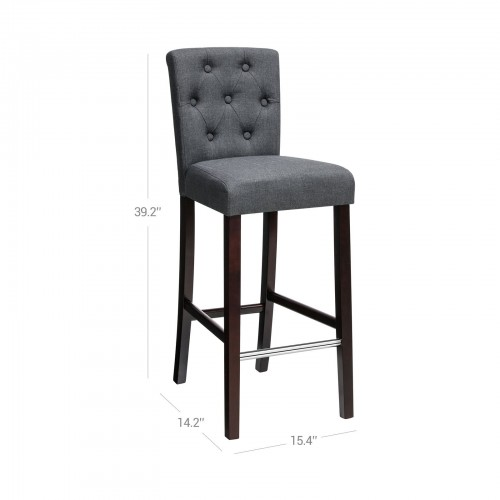 Tufted Backrest Bar Stools
