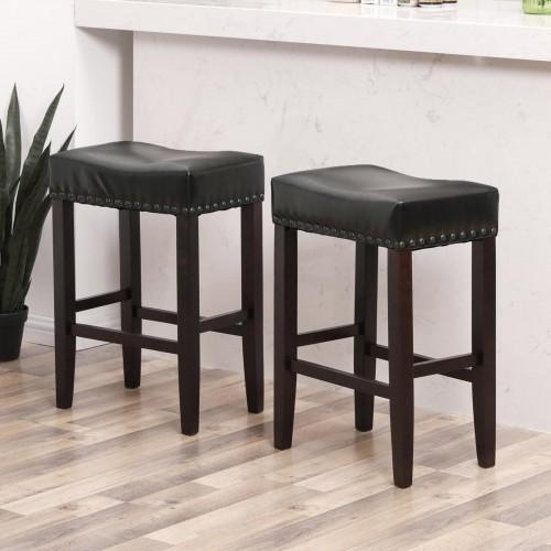 Outstanding Songmics Set Of 2 Counter Stools Well Padded Ergonomic Bar Dailytribune Chair Design For Home Dailytribuneorg