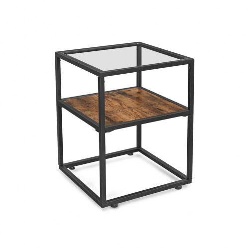Glass Tabletop Side Table