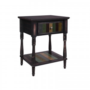 Colorful Drawer End Table