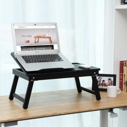 Bamboo Black Laptop Desk