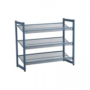 Ebony Blue Shoe Rack