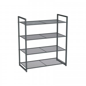 Smoky Gray Shoe Rack