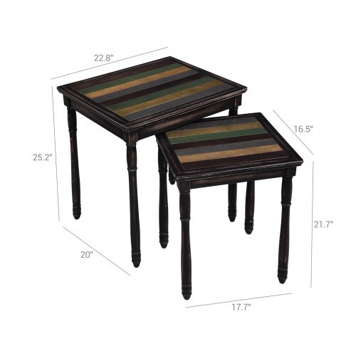 Colorful Tabletop Nesting Table