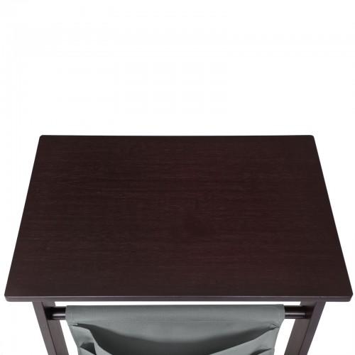 Dark Bamboo Side Table