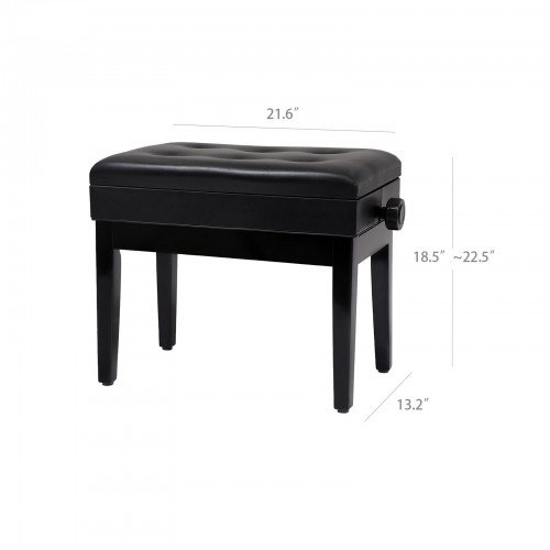 Marvelous Adjustable Padded Piano Bench Theyellowbook Wood Chair Design Ideas Theyellowbookinfo