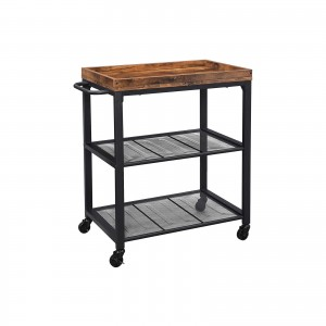 Mesh Shelves Kitchen Cart