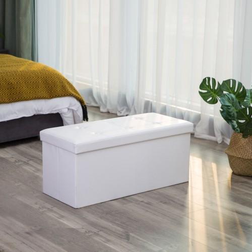 Excellent White Tufted Storage Ottoman Machost Co Dining Chair Design Ideas Machostcouk