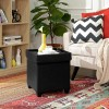 Padded Folding Storage Ottoman