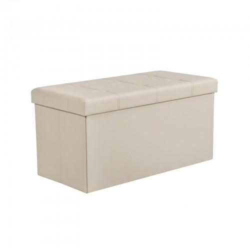 Fine Beige Faux Leather Ottoman Dailytribune Chair Design For Home Dailytribuneorg