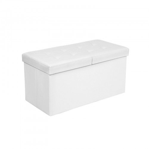 Flipping Lid White Ottoman