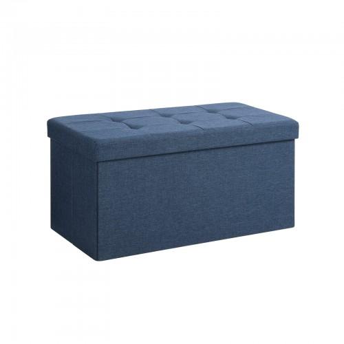Awesome Navy Blue Storage Ottoman Machost Co Dining Chair Design Ideas Machostcouk