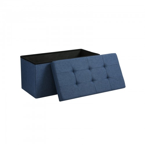 Tremendous Navy Blue Storage Ottoman Machost Co Dining Chair Design Ideas Machostcouk