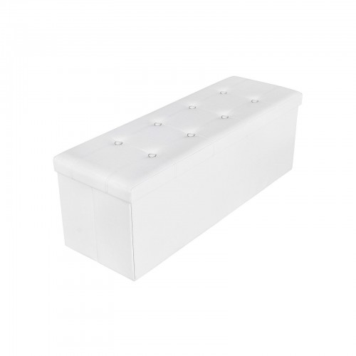 Faux Leather Folding Ottoman