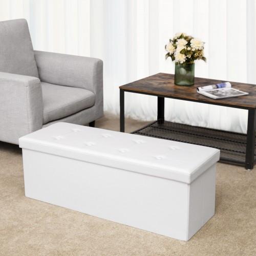 Groovy Faux Leather Folding Ottoman Cjindustries Chair Design For Home Cjindustriesco