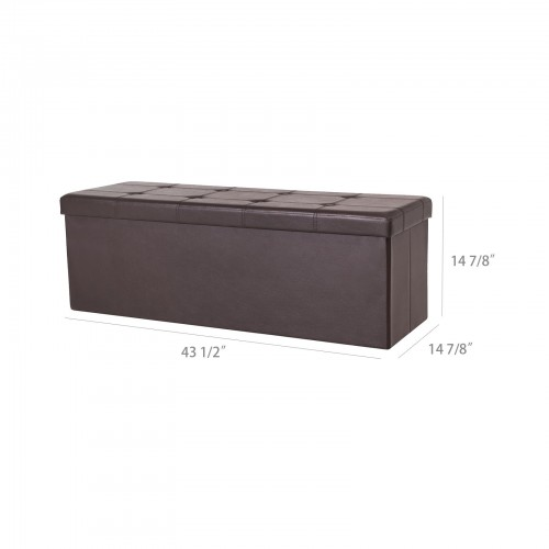 Strange Brown Storage Ottoman Bench Creativecarmelina Interior Chair Design Creativecarmelinacom
