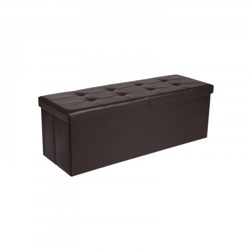 Brown Tufted Storage Ottoman