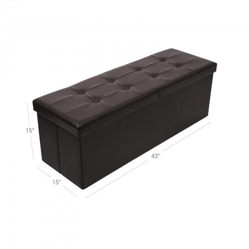 Strange Brown Tufted Storage Ottoman Andrewgaddart Wooden Chair Designs For Living Room Andrewgaddartcom