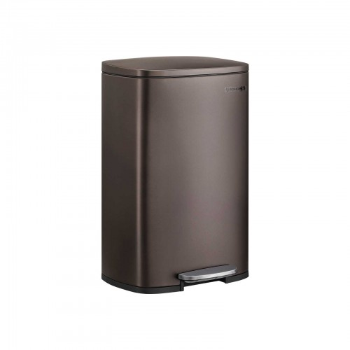 Brown Kitchen Trash Can